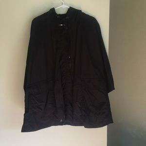 Black Eileen Fisher rain jacket, size small